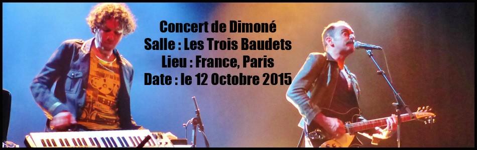 Dimoné aux Trois Baudets le 12 Octobre 2015