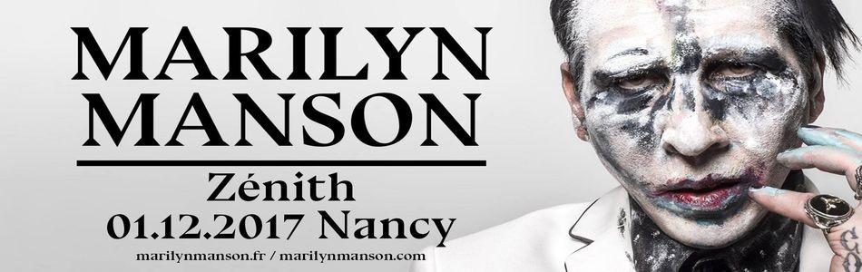 Marilyn Manson le 01/12/2017 au Zénith de Nancy (54)